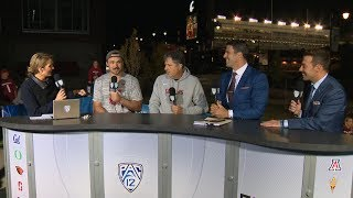 Washington State football head coach Mike Leach and quarterback Gardner Minshew join Pac-12 cast...