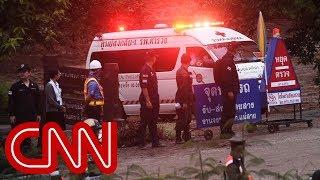 Witness: First 3 boys rescued from Thai cave
