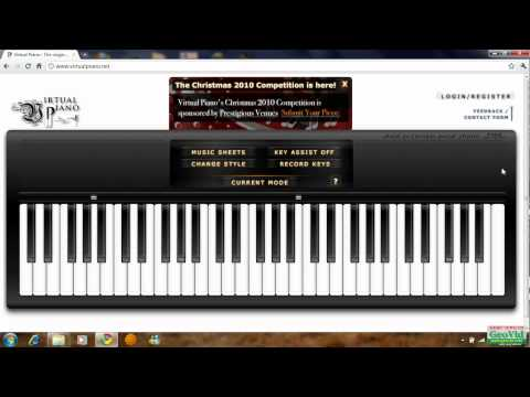 Titanic on virtual piano.net