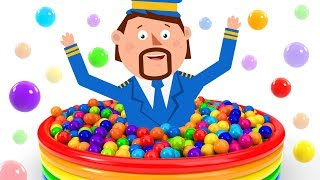 Learn Colors with the GIANT COLORFUL BALL PIT | Learning Cartoons for Kids | Captain Discovery