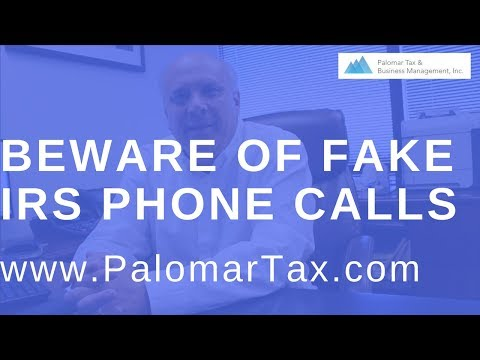 IRS Phone Scams 2017 San Diego - Bookkeeping Accounting Firm