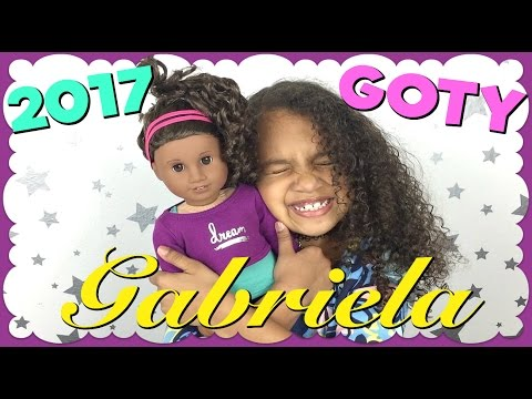 American Girl of the Year 2017 Gabriela McBride looks just like Gabby! Thank you American Girl and Mattel for sending her to us! This is Gabby's first AG doll and she is beyond excited about Gabriela!  Finally a doll that truly looks like her!