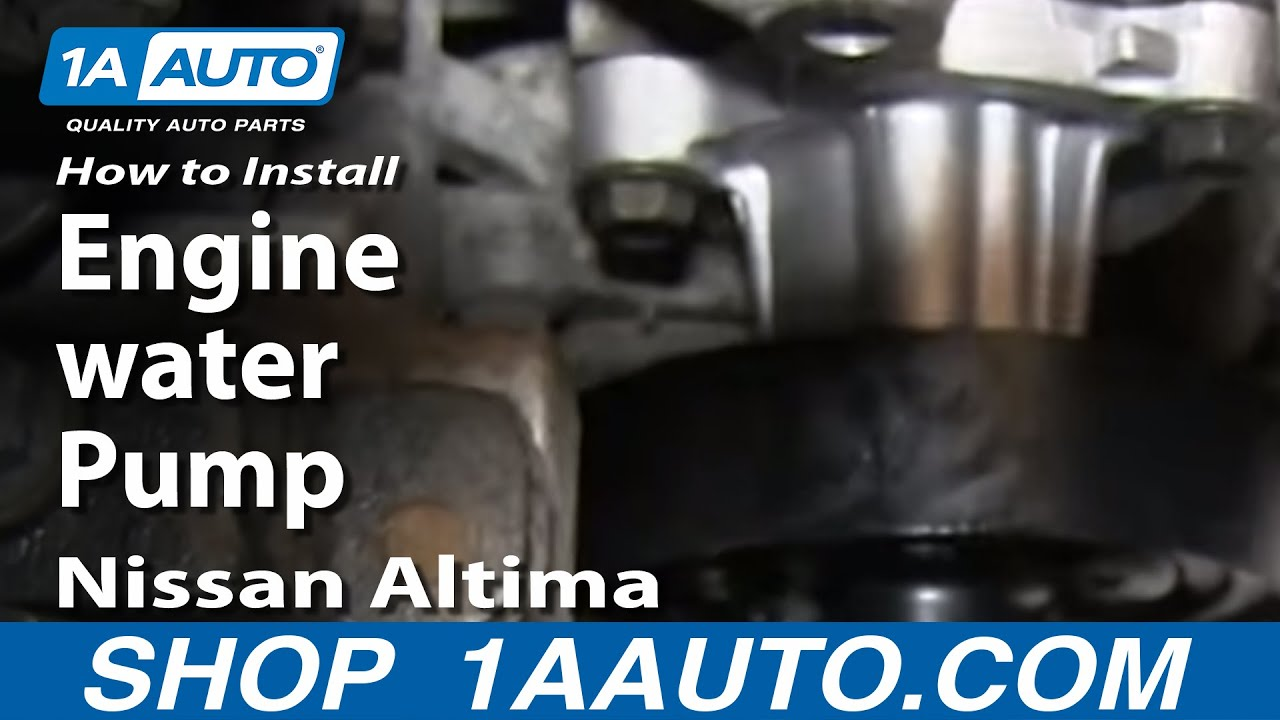 How To Install Replace Engine Water Pump 2002 06 2 5l