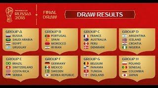 Russia 2018 World Cup Draw -  Review Sucker Narration