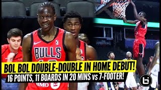 Bol Bol Double-Double in G-League Chicago Home Debut! Windy City Bulls Full Highlights!