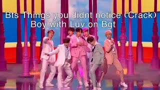Bts Things You Didn't Notice (crack) Boy With Luv Britain's Got Talent Performance