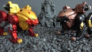 Power Rangers Wild Force Battle of lions! Toys Play 파워레인저 정글포스 사자들의 전투! 장난감 놀이