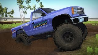 LIFTED BIGFOOT MONSTER TRUCK! 4x4 Mudding & Off-Roading! (BeamNG Drive Mods)
