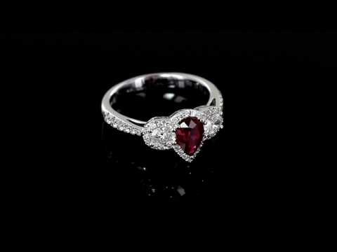Browns Family Jewellers Ruby And Diamond Cluster Ring