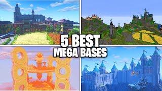 5 BEST Minecraft MEGA BASES Ever Built! (BEST Survival Mega Bases)