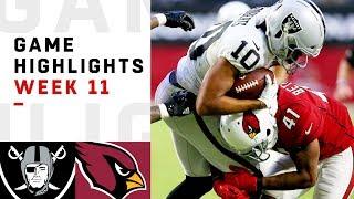 Raiders vs. Cardinals Week 11 Highlights   NFL 2018