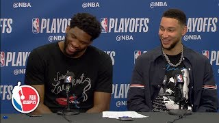 Joel Embiid apologizes for elbowing Jarrett Allen in 76ers' Game 2 win | 2019 NBA Playoffs