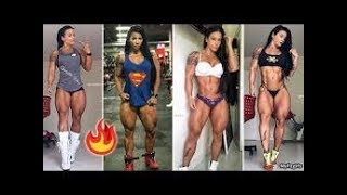 (Woman Workout Compilation)AWESOME GIRLS TRAINING IN GYM  Female Fitness Motivation HD