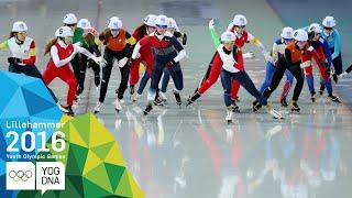Speed Skating Mass Start - Ji Woo Park wins Ladies' gold | Lillehammer 2016 Youth Olympic Games
