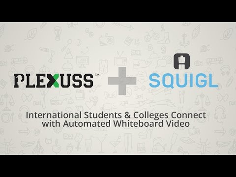 Announcement of partnership between Plexuss and Truscribe to help colleges and students communicate through automated whiteboard video.
