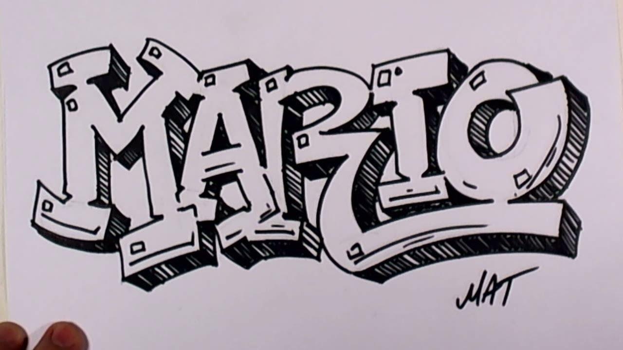 Graffiti Writing Mario Name Design #38 In 50 Names