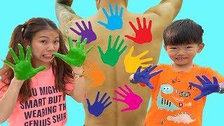 LEARN COLORS FOR CHILDREN BODY PAINT,Johny Johny Yes Papa, Bong TV