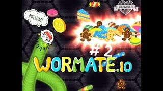 Noob's luckiest day ever in wormate.io😍|| wormate.io gameplay part 2《》 Check description for more.