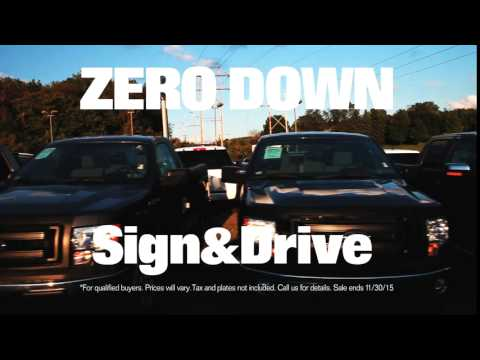 ZERO DOWN Sign&Drive New Fords.  Only at BAIERL.