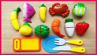 Đồ chơi trẻ em CẮT TRÁI CÂY, RAU CỦ, CUA CÁ rất vui, giúp bé học nấu bếp (Chim Xinh)