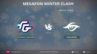 [RU] Forward vs Secret   Bo3   MegaFon Winter Clash by @Tekcac