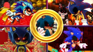 Sonic.EXE in 5 Sonic Games
