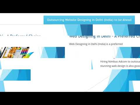 Outsourcing Website Designing in Delhi (India)