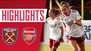 HIGHLIGHTS | West Ham 1-9 Arsenal | Jill Roord with another hat-trick!