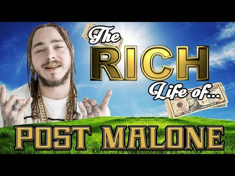 POST MALONE - The RICH Life - 2017 FORBES ( Cars, House, Tattoos, & Popeyes )