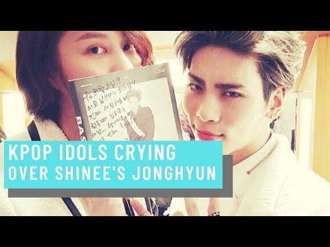 Kpop Idols crying over Jonghyun