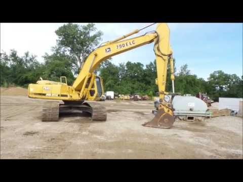 1997 John Deere 790E LC excavator for sale | no-reserve Internet auction August 25, 2016