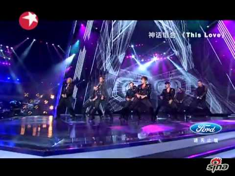 130630 Shinhwa This Love on Chinese Idol