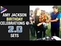 Amy Jackson Birthday Celebrations at Rajinikanth Robo 2 Movie Sets- Akshay Kumar