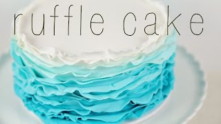 CAKE TREND ~ Ombre Fondant Ruffle Tutorial - Cake Style