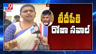 MLA Roja challenge to Chandrababu, TDP MLAs over three cap..