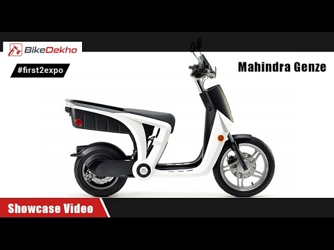 #first2expo: Mahindra Genze   Showcase   BikeDekho@AutoExpo2016