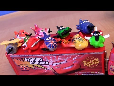 Planes Micro Drifters Disney Dusty Crophopper, Chupacabra, Rochelle Pixar Cars Lightning McQueen ZED - Smashpipe Entertainment Video