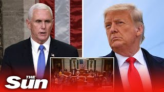 House passes powerless 25th Amendment vote after Pence REFUSES to fire Trump