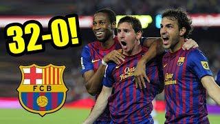 EL PARTIDO que el FC BARCELONA GANÓ 32-0 (Messi, Piqué, Cesc de NIÑOS)