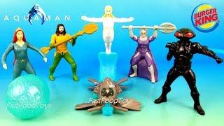 2018 AQUAMAN BURGER KING JR KIDS MEAL TOYS DC COMICS FULL SET 6 McDONALD'S SPIDERMAN HAPPY MEAL TOYS