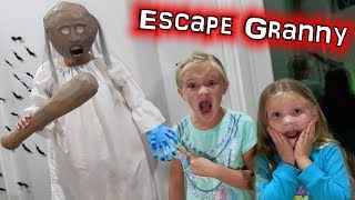 Pranking Granny In Our Haunted House To Escape The Babysitter!!