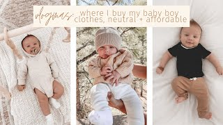 where I buy my baby clothes, neutral + affordable!   vlogmas day 3
