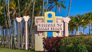 Miami Beach LIVE Walking Millionaire's Row Beach Path & Collins Avenue