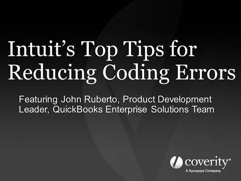 Intuit's Top Tips for Reducing Coding Errors