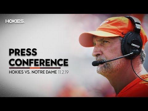 Football vs Notre Dame - Coach Foster Post Game
