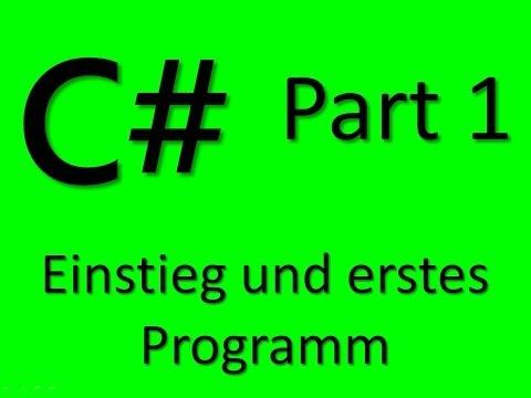 Programmieren lernen mit visual c teil 1 einstieg und erstes