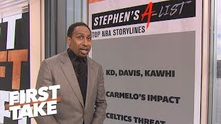 Stephen A.'s top 5 NBA storylines: LeBron, Carmelo's redemption, Joel Embiid MVP? | First Take