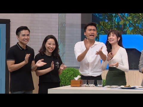 Xuân Nghị sung sướng khi được Hari Won đút ăn | Khi Chàng Vào Bếp - Mùa 2