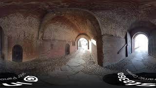 The entrance to Varberg fortress (360° Video)