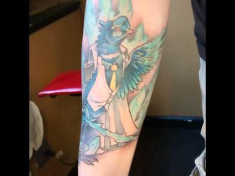 My new One Piece tattoo, Aokiji inspired piece.,